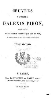 Oeuvres choises d'Alexis Piron: Les courses de tempé
