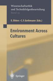 Environment across Cultures