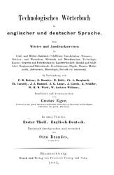 Technological dictionary in the English and German languages PDF