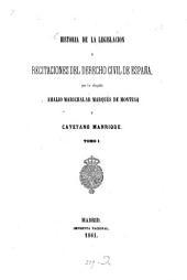 Historia de la legislacion y recitaciones del derecho civil de España: Volumen 1