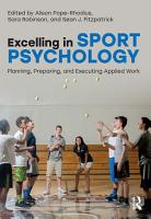 Excelling in Sport Psychology PDF