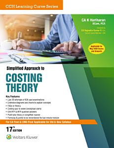 Simplified Approach To Costing Theory  For Ca Final   Cwa Final   16E PDF