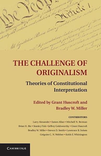 Download The Challenge of Originalism Book