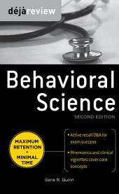 Deja Review Behavioral Science, Second Edition: Edition 2
