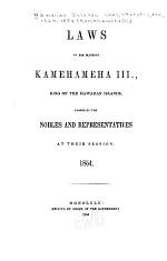 Laws of His Majesty Kamehameha III., King of the Hawaiian Islands