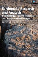 Earthquake Research and Analysis   Seismology  Seismotectonic and Earthquake Geology PDF