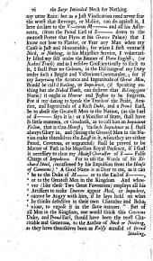 The State Weathercocks: Or, a New Secret History of the Most Distinguished Favourites, Both of the Late and Present Reign ... Writ by a Person of Honour, that Sent to Mr J. D. All Those Jacobite Secrets that Composed Neck Or Nothing, and is Now Published as a Key to that Narrative. To These New Discoveries is Added, the Twentieth Edition of Neck Or Nothing ... with ... Large Additions ... Also Mordecai Kneeling at the King's Gate, Or Mr J. D.s ... Petition to His Majesty's Gratitude, Etc
