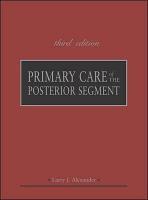 Primary Care of the Posterior Segment  Third Edition PDF