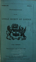 Download Proceedings of the Linnean Society of London Book