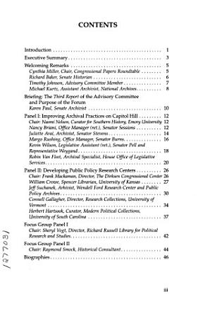 Congressional Papers Forum PDF