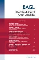 Biblical and Ancient Greek Linguistics  Volume 6 PDF