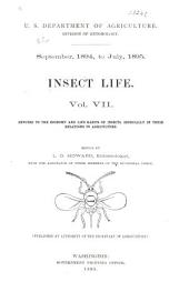 Insect Life: Volume 7