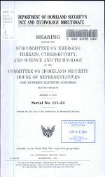 The Department of Homeland Security's Science and Technology Directorate