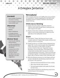 Writing Lesson Level 3 A Complex Sentence Book PDF