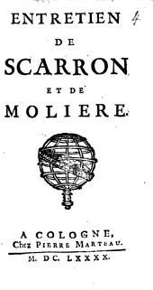 Entretien De Scarron Et De Moliere
