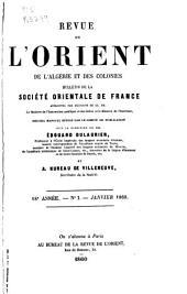 Revue de l'Orient: Volume3;Volumes11à12