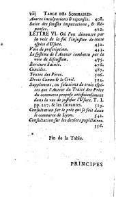 Principes théologiques, canoniques et civils sur l'usure