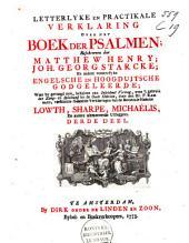 Letterlyke en prakticale verklaring over het boek der Psalmen: Volume 3