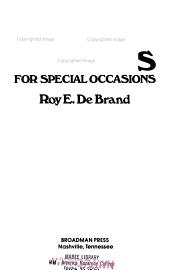 Children S Sermons For Special Occasions