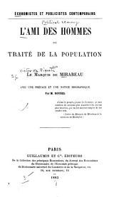 L'ami des hommes, ou, Traité de la population ...