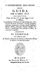 L' Interprete Milanese Ossia Guida: Per L' Anno, Volume 1