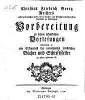 Vorbereitung zu seinen öffentl. Vorlesungen (etc.)- Göttingen, Boßiegel 1750
