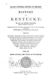 Collins' Historical Sketches of Kentucky: History of Kentucky, Volume 2