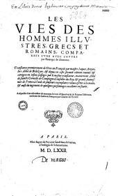Les vies des hommes illustres... par Plutarque,... translatées du grec... par M. Jaques Amyot,...