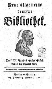 Neue allgemeine deutsche Bibliothek: Band 62