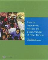 Tools for Institutional  Political  and Social Analysis of Policy Reform PDF