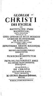 De Christo sole iustitiae alato