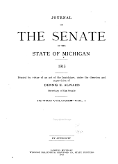 Journal of the Senate of the State of Michigan: Volume 1