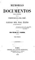 Memorias y documentos para la historia del Peru PDF