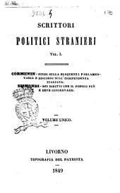 Scrittori politci stranieri: Studi sulla eloquenza parlamentaria, Volume 1