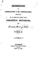 Principios de legislacion y de codificacion: Volumen 2