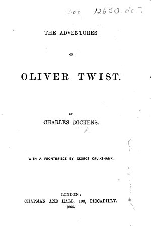 The Adventures of Oliver Twist  Etc