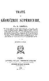 GEOMETRIE SUPERIEURE
