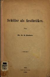 Schiller als aesthetiker