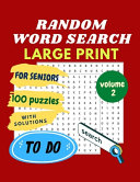 RANDOM WORD SEARCH for SENIORS   LARGE PRINT   Volume 2 PDF
