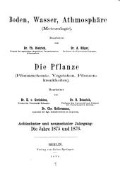 Jahresbericht für Agrikultur-chemie: Bände 18-19