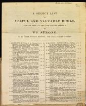 A Select List of Useful and Valuable Books, Now on Sale at the Low Prices Affixed