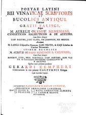 Poetae latini rei venaticae scriptores et bucolici antiqui