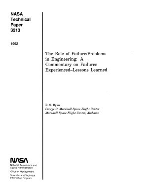 The Role of Failure problems in Engineering  A Commentary of Failures Experienced   Lessons Learned