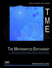 The Mathematics Enthusiast Issue: Volume 13 #3