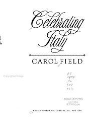 Celebrating Italy Book PDF
