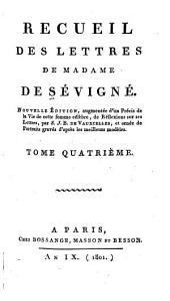 Recueil des lettres de Madame de Sévigné: Volume4