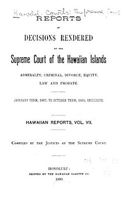 Reports of Some of the Judgments and Decisions of the Courts of Record of the Hawaiian Islands