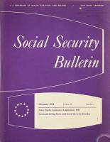 Social Security Bulletin PDF