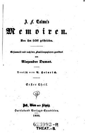 J  F  Talma s Memoiren PDF