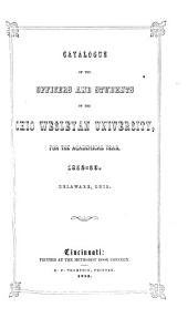 Catalogue of Ohio Wesleyan University for ..., Delaware, Ohio